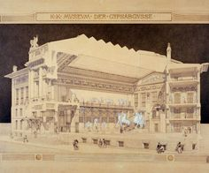Otto Wagner Drawings | ... wagner drawings ever exhibited in the united states otto wagner 1841
