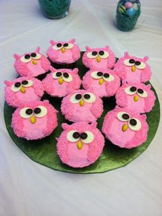 Trendy Baby Shower Food For Girl Cupcakes Birthday Parties Cupcakes Para Baby Shower, Baby Shower Food For Girl, Baby Shower Cookies, Owl Baby Shower Decorations, Owl Cupcakes, Owl Birthday Cupcakes, Fancy Cupcakes, Character Cupcakes, Owl Birthday Parties