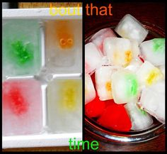 Gummy Bear Ice Cubes for the kids drinks during outside play.