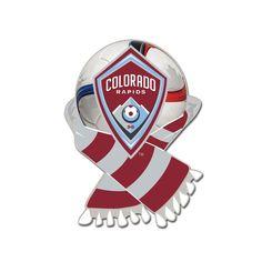MLS Colorado Rapids Scarf and Ball Enamel Pin