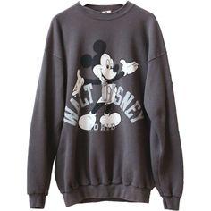 Vintage Disney Mickey Mouse 90s Crewneck Sweatshirt Brand Disney... ($36) ❤ liked on Polyvore featuring tops, hoodies, sweatshirts, grey, vintage sweatshirt, gray top, disney, crew-neck sweatshirts and grey crew neck sweatshirt                                                                                                                                                                                 More