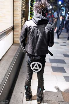 Harajuku Punk in Studded Leather Jacket & Boots