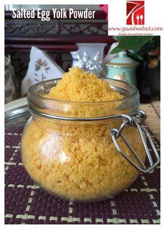 Homemade Salted Egg Yolk Powder (家居自制金莎粉, 咸蛋黄粉)