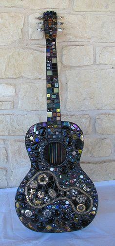 Gorgeous #mosaic guitar