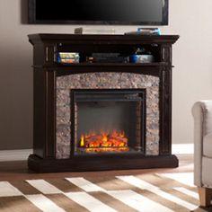 Fireplaces 175756: Southern Enterprises Grantham Faux Stone Corner Electric Media Fireplace - Ebony -> BUY IT NOW ONLY: $495.97 on eBay!