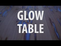 Learn How To Make Glow-In-The-Dark Table With Photoluminescent Resin