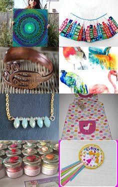 Colourful March Finds by Frances Bowsher on Etsy--Pinned+with+TreasuryPin.com