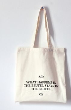 Jutebeutel mit Spruch // totebag with writing by Pap-Seligkeiten via DaWanda.com