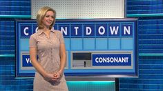 Rachel Riley wears a hunters and gatherers dress on C4 Countdown