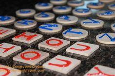 Sensory alphabet tiles