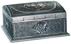 PERSIAN ART , SILVER BOX