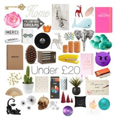 """Under £20"" by blackserpent ❤ liked on Polyvore featuring interior, interiors, interior design, home, home decor, interior decorating, H&M, M&Co, Lord & Taylor and Sugar Paper"