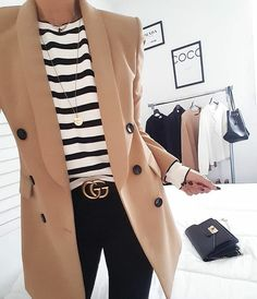 99 Stylish Blazer Outfits Ideas For Women Top Fashion, Italy Fashion, Blazer Fashion, Fashion Outfits, Womens Fashion, Fashion Ideas, Fashion Coat, Ladies Fashion, Fashion Skirts