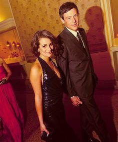 Lea Michele and Cory Monteith. So CUTE ! They are at the MET Ball in NYC.