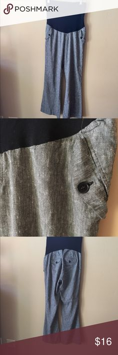 A Pea In The Pod Maternity Pants Gray maternity pants. Fabric tags shown in photo. 👠👗👜 Check out $6 section of closet, before sold items. All $6 items final price unless bundled. 15% bundle discount. 🚫NO MODELING 🚫NO TRADES A Pea in the Pod Pants