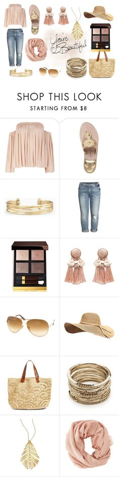 """boho"" by celine-diaz-1 on Polyvore featuring mode, Elizabeth and James, Jack Rogers, Stella & Dot, KUT from the Kloth, Tom Ford, Mar y Sol, Sole Society, Hueb et Charlotte Russe"