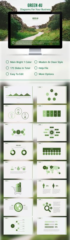 Green Powerpoint Template #powerpoint #powerpointtemplate #presentation Download: http://graphicriver.net/item/green-4u/10259048?ref=ksioks
