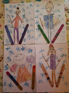 Winter Art Projects, Winter Crafts For Kids, School Art Projects, Winter Fun, Winter Theme, Art For Kids, Kindergarten Art, Preschool Crafts, Winter Activities