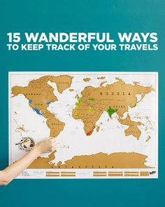 15 Wanderful Ways to Track and Show Your Travels - Also Great Gifts for Any Travel Lover // localadventurer.com