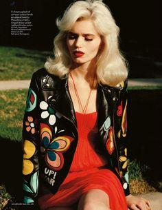 60's motif leather coat