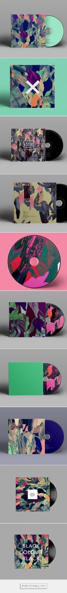 Make me some music | Colorful collages for music packaging | Designed by Anna Katrin Karlsson (Cool Art Styles)