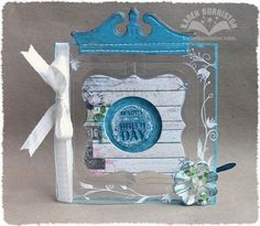 Clear Accordion Album Birthday Card