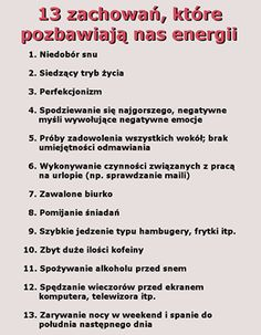 Wyzbądź ske tych negatywnych zachowan i badz szczesliwa! Gewichtsverlust Motivation, E Mc2, Good Advice, Self Development, Better Life, Self Improvement, Good To Know, How To Lose Weight Fast, Life Lessons