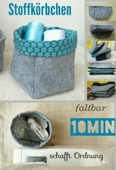 Einfaches Utensilo aus Filz nähen in 10 Minuten You are in the right place about sewing projects videos Here we offer you the most beautiful pictures about the sewing projects recycled you are looking Beginner Knitting Projects, Sewing Projects For Beginners, Easy Knitting, Knitting For Beginners, Knitting Patterns, Cute Pillows, Diy Pillows, Diy Slime, Knitted Bags