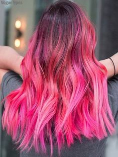 Day photography Dark Pink Hair Color Styles To try In this Season , , Vivid Hair Color, Hair Color Pink, Hair Dye Colors, Cool Hair Color, Dark Pink Hair, Burgundy Hair, Hair Color Highlights, Bright Hair, Pretty Hairstyles