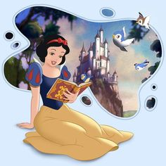 Disneyland Princess, Disney Princess Cartoons, Disney Princess Snow White, Snow White Disney, Disney Princess Drawings, Disney Films, Disney Pixar, Arte Disney, Disney Art