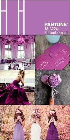 Theme wedding Radiant Orchid #ninaweddings