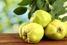 Quince contains 8,9 g % carbohydrates, 7 % of carbohydrates consist of fructose, and the remaining are glucose and saccharose. In quince there are provitamin A, vitamins B1, B2, B6, C, E, PP; the number of other macro- and microelements. The content of potassium in quince is 144 mg %, it is ten times more than sodium. Quince is rich in malic acid (250 mg %) and citric acid. Quince jam and marmalade cooked in a proper way are useful in the case of inflammatory bowel diseases.