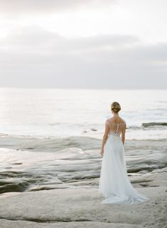 Watters wedding dress | Found in the Sea ~ Beach wedding inspiration | Katie Grant Photography