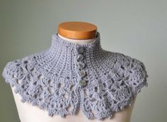 LACY, Crochet capelet/cowl pattern  I've been working on a knit one similar to this but, I like this one better!!