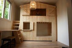 Basement Bedrooms, Bed And Breakfast, Building, Interior, Furniture, Wooden Houses, Inspireren, Home Decor, Google