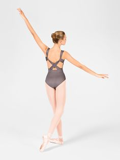 Free Shipping - Adult Pinch Front X-Back Tank Leotard by MOTIONWEAR