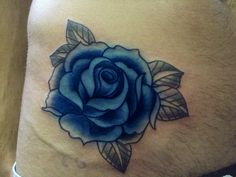 delicate tattoos | Small and delicate tattoo of a blue rose - Rose tattoos gallery