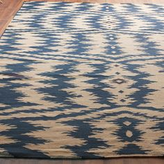 >>>>>>Shades Of Light<<<<<< Ikat Stripe Dhurri Rug 7' X 9' Price:Special $879.00
