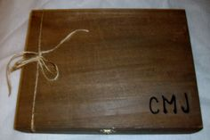 Large Cigar Box - Groomsmen Gift - Groomsman -Wooden Cigar Box with Felt - Rustic Wedding Personalized - Groomsmen - Best Man Gift Box