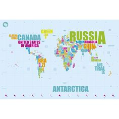 World map antique style giant poster uni pinterest giant world map in words poster gumiabroncs Images