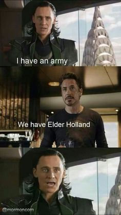 Elder Holland and the Avengers! LDS general conference memes