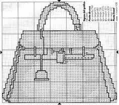 0 point de croix sac à main - cross stitch handbag