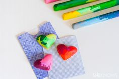 Melting crayons into fun shapes -- great as toddler birthday party favors!
