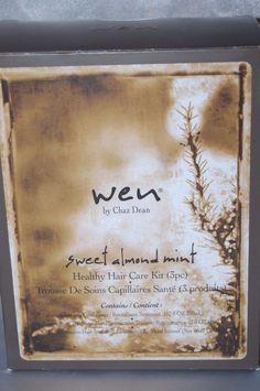Wen by Chaz Dean Sweet Almond Mint Hair Treatment Kit 3 Piece New #WEN