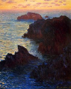 Rocky Point......Claude Monet I like the scenery on this and how he/she textured the painting to make it loom more real!  Jacob braldey
