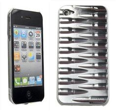 Luxury Deluxe Bullet Metllic Chrome Hard Case Back Cover For iPhone 4 4S Silver - USD $ 9.25