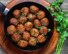 These are the easiest and best meatballs ever. There are two ways to assemble the meatballs, and then three ways to cook them, equaling six total options. Veggie Meatballs, Best Meatballs, Buffalo Meatballs, A Food, Food And Drink, Paleo, Snacks Für Party, Meatball Recipes, My Favorite Food
