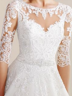 Wonderful Perfect Wedding Dress For The Bride Ideas. Ineffable Perfect Wedding Dress For The Bride Ideas. Western Wedding Dresses, Elegant Wedding Gowns, Perfect Wedding Dress, White Wedding Dresses, Bridal Dresses, Dress Wedding, Dresses Uk, Illusion Wedding Gown, Simple Wedding Dress With Sleeves