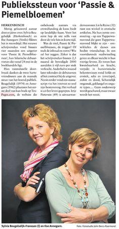 Veel aandacht voor ons boek in de regionale kranten en zelfs in de Telegraaf (Vrouw)