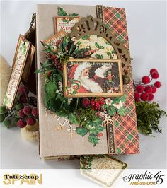 Tati, Christmas Planner, St. Nicholas, product by Graphic 45.